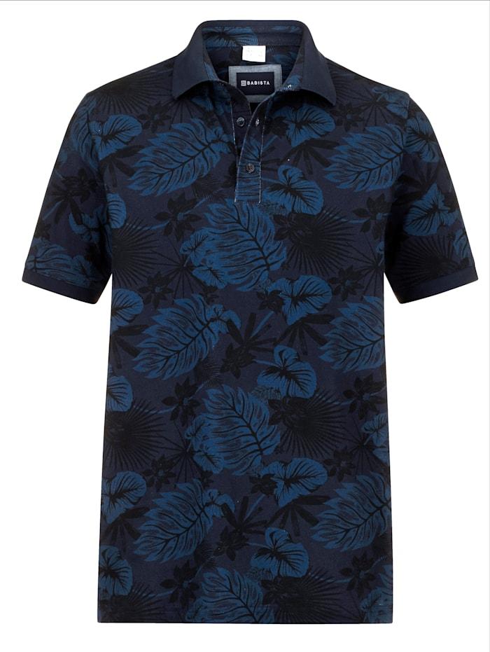 BABISTA Poloshirt mit floralem Druckmuster, Blau