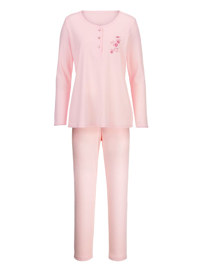 Pyjama with pretty embroidery at the front
