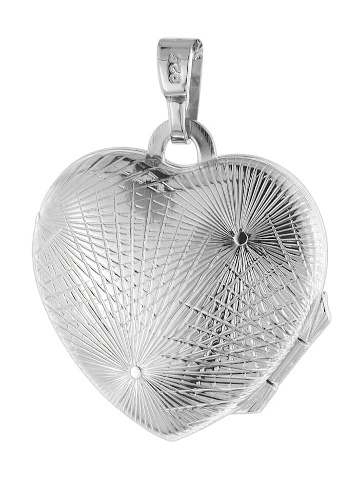 Damen-Halskette mit Herz-Medaillon Silber 925