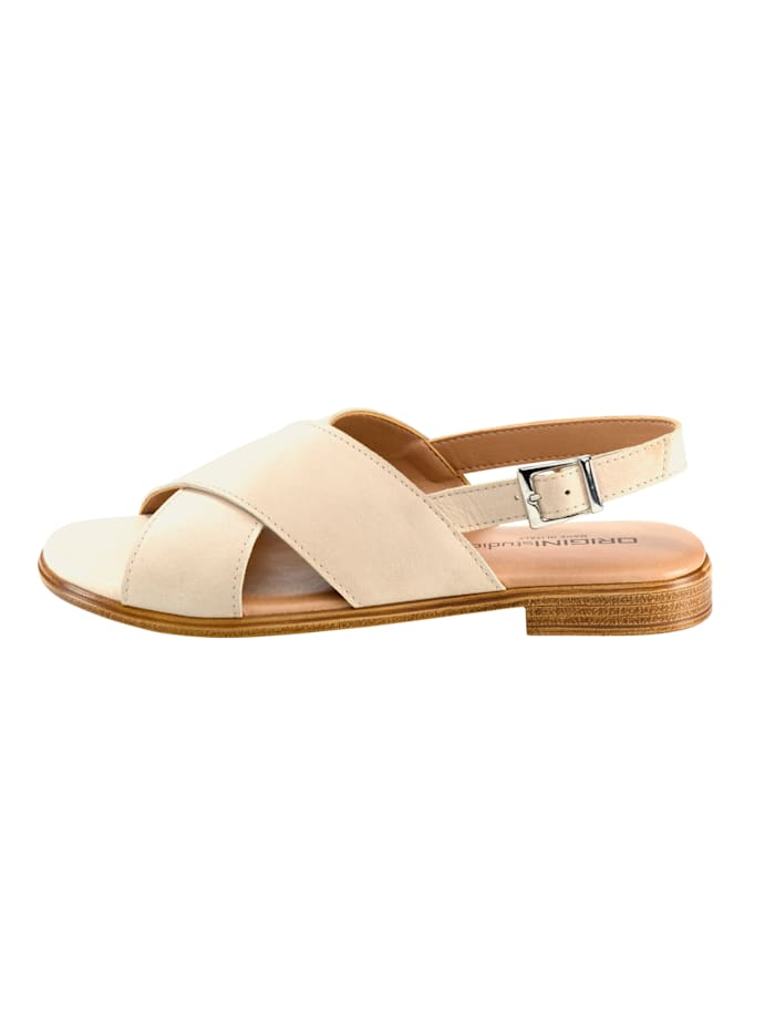 Sandaaltje met gekruiste bandjes