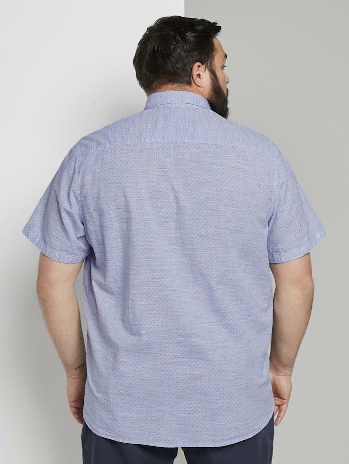 Mehrfarbiges Kurzarmhemd mit Brusttasche