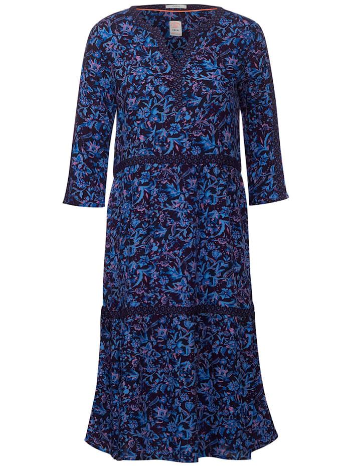 Cecil Kleid mit Blumenmix, deep blue