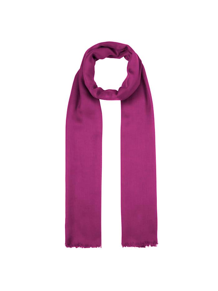 Codello XL-Schal aus Modal und Wolle, burgundy