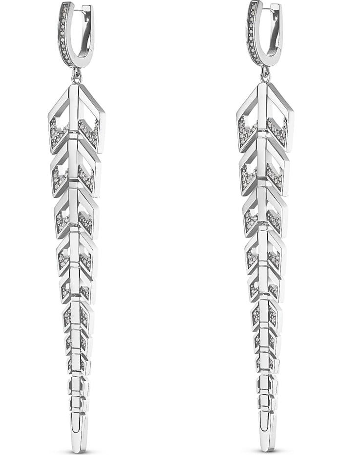 Jette JETTE Silver Damen-Creolen 925er Silber 136 Zirkonia, silber