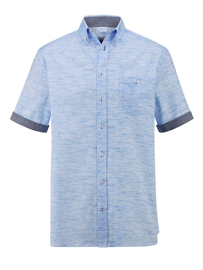 BABISTA Overhemd in gemêleerde look, Blauw