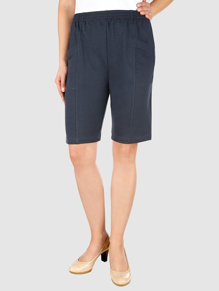 Paola Mjuka shorts med midjeresår, Marinblå