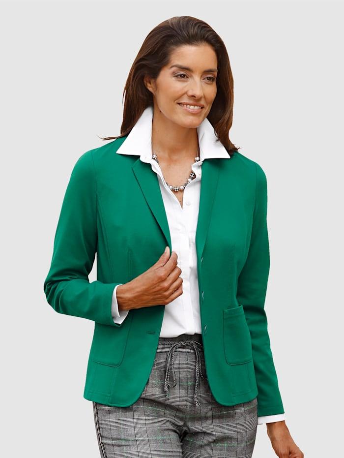 Sweatshirtkavaj i klassisk modell med välarbetad insida