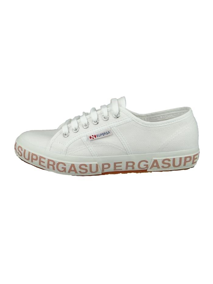 Damenschuhe-Sneaker S111XQW 2750 COTW Glitterlettering Textil weiß A01 white bronze