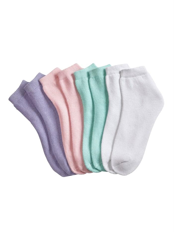 Blue Moon Froté ponožky, Růžová/Mátová/Šeříková/Bílá