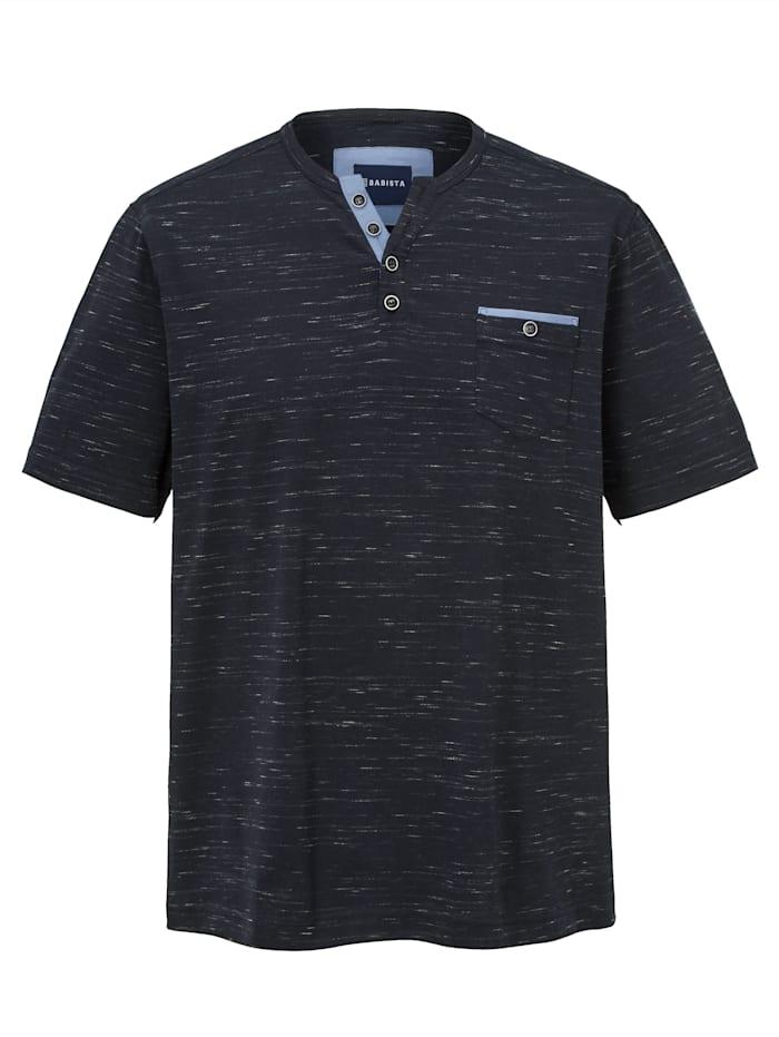 BABISTA T-shirt in vlamgarenlook, Donkerblauw