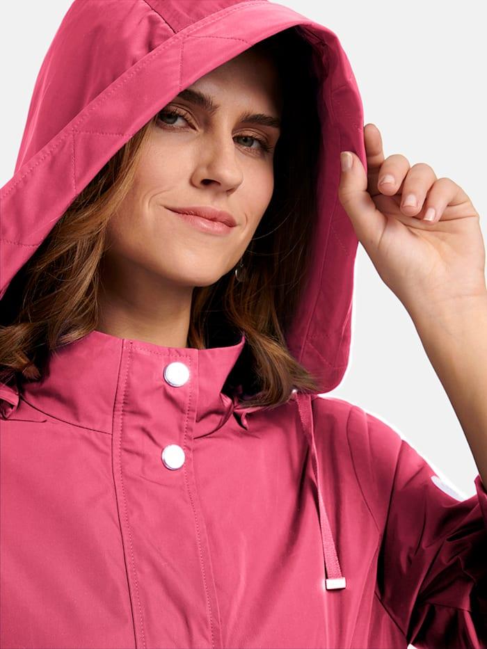 Pflegeleichte Jacke mit Stehkragen und abnehmbarer Kapuze