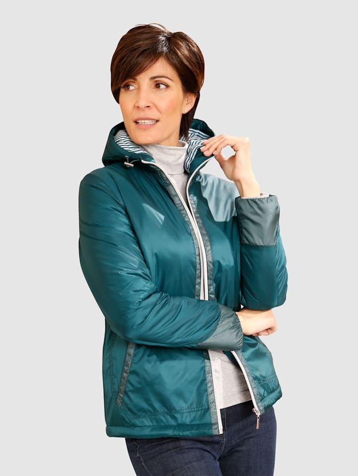 Jacke in leicht glänzender Qualität