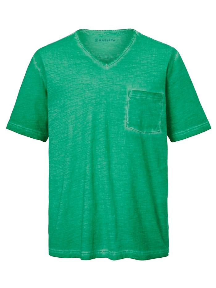BABISTA T-shirt à effet usé, Vert