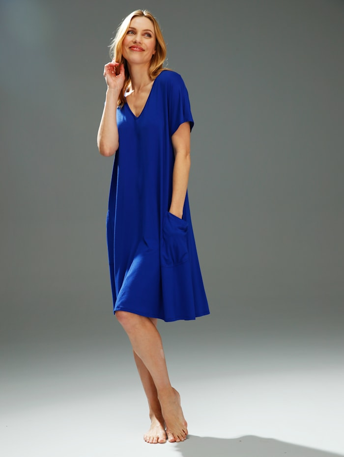 Sunflair Strandkleid mit V-Ausschnitt, Royalblau