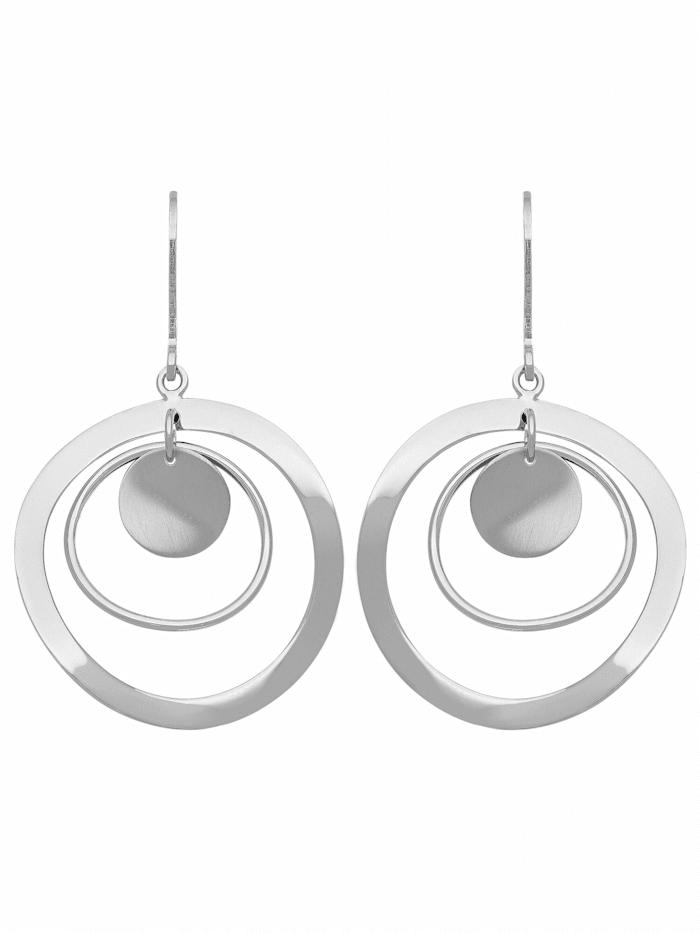 1001 Diamonds 1001 Diamonds Damen Silberschmuck 925 Silber Ohrringe / Ohrhänger Ø 27 mm, silber