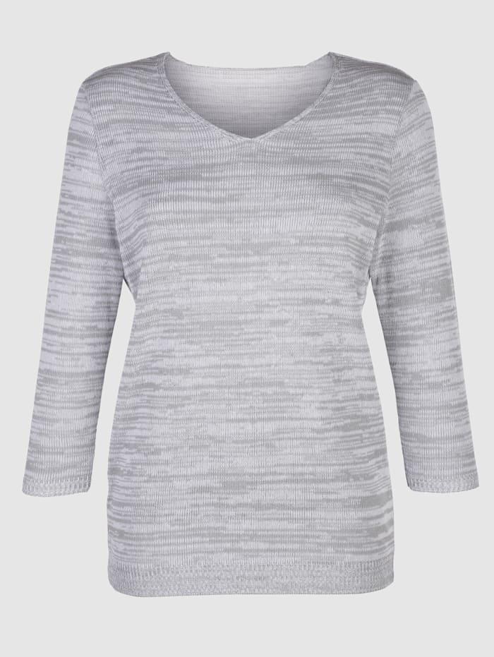 Pullover in sommerlicher Melange-Optik