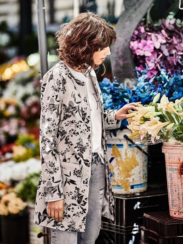 Mantel Mit floralem Druck