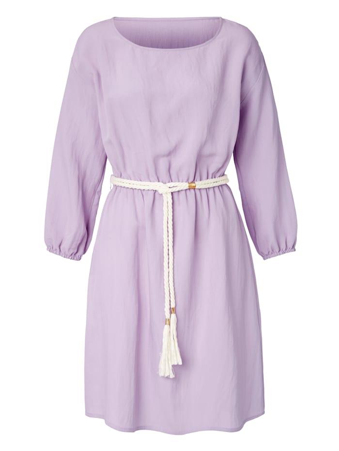 REKEN MAAR Kleid mit Gürtel in Kordeloptik, Lavendel