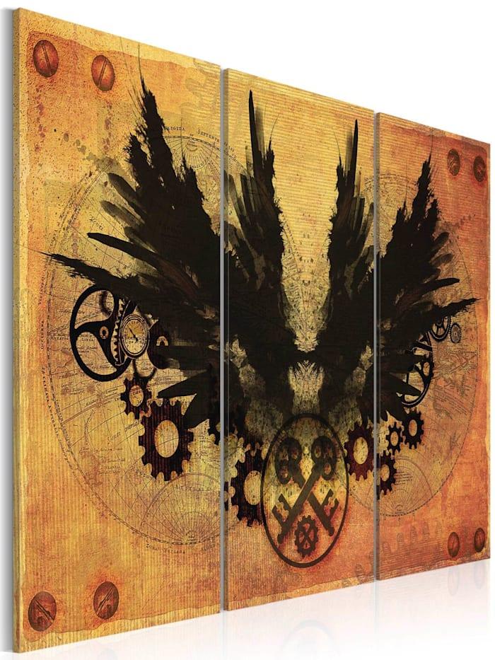 artgeist Wandbild Mechanische Flügel, Kupfer
