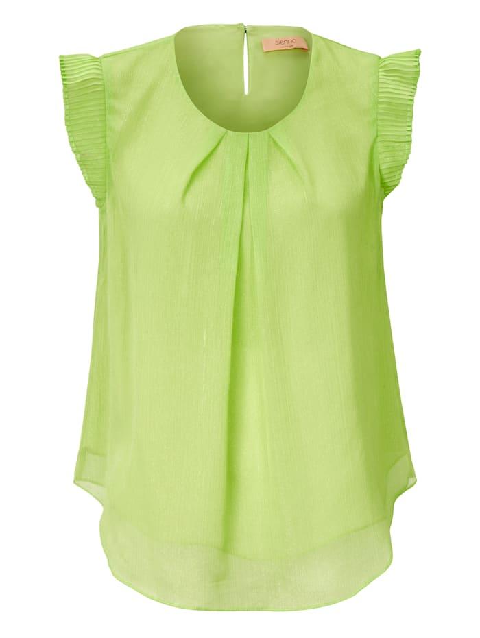 SIENNA Bluse, Neongrün