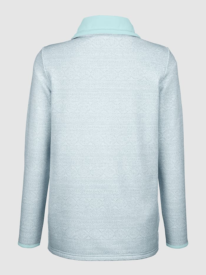 Sweatshirt mit weitem Kragen