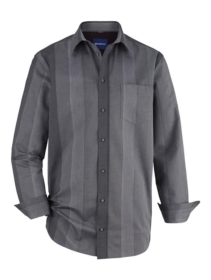 BABISTA Partyhemd mit leichter Glanzoptik, Anthrazit