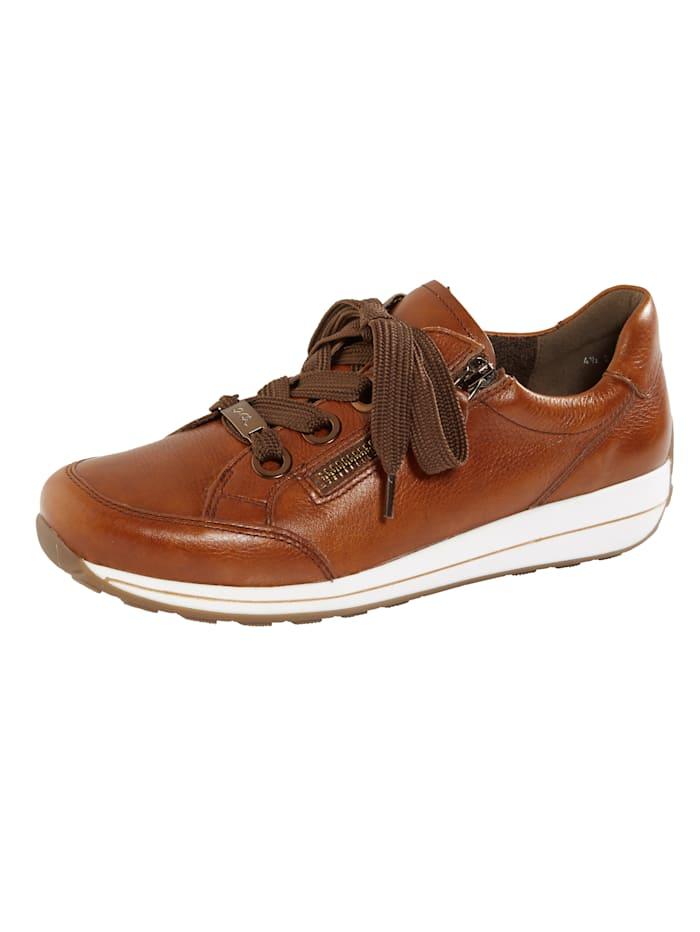 Ara Lace-up shoes with a soft insole, Cognac