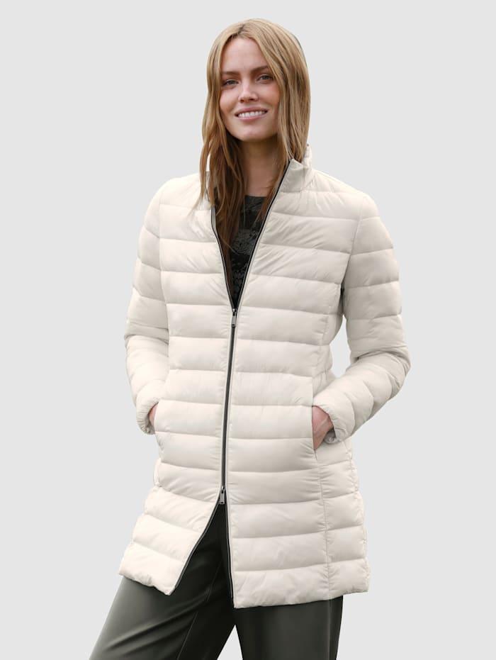 Laura Kent Gewatteerde jas van warm materiaal, Offwhite