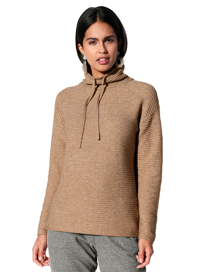 Betty Barclay Strickpullover mit Stehkragen, Camel