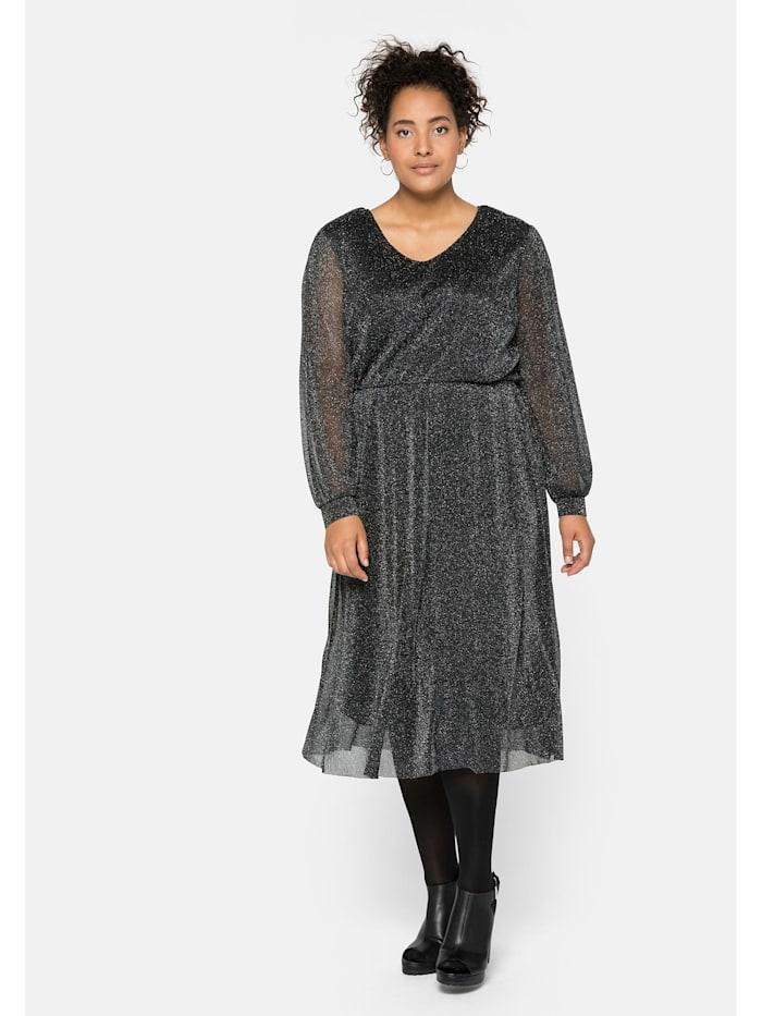 Sheego Sheego Kleid mit Effektgarn, schwarz