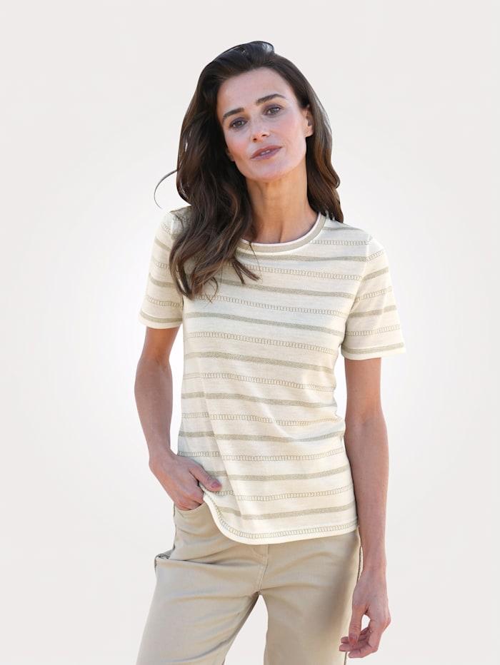 MONA Pullover mit Effektvollem Glanzgarn, Natur/Goldfarben