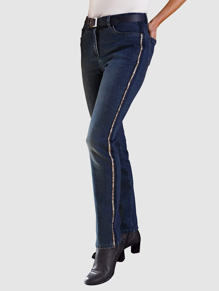 Paola Thermojeans mit wärmender Innenseite, Blue bleached