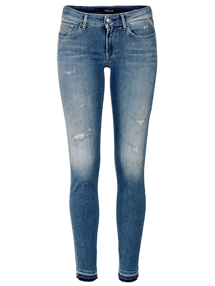 REPLAY Jeans, slim, Blau