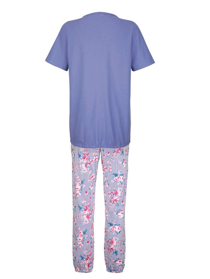Schlafanzug mit modischem Bindeband