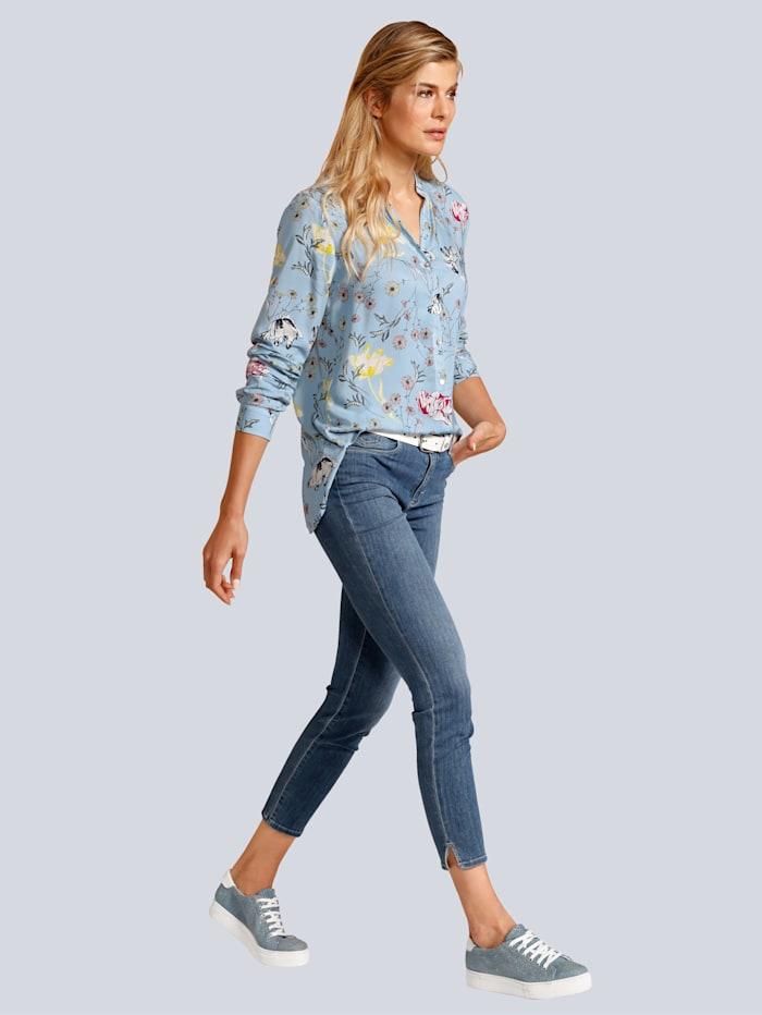 BRAX Jeans mit kleinen Schlitzen am Hosensaum, Blau