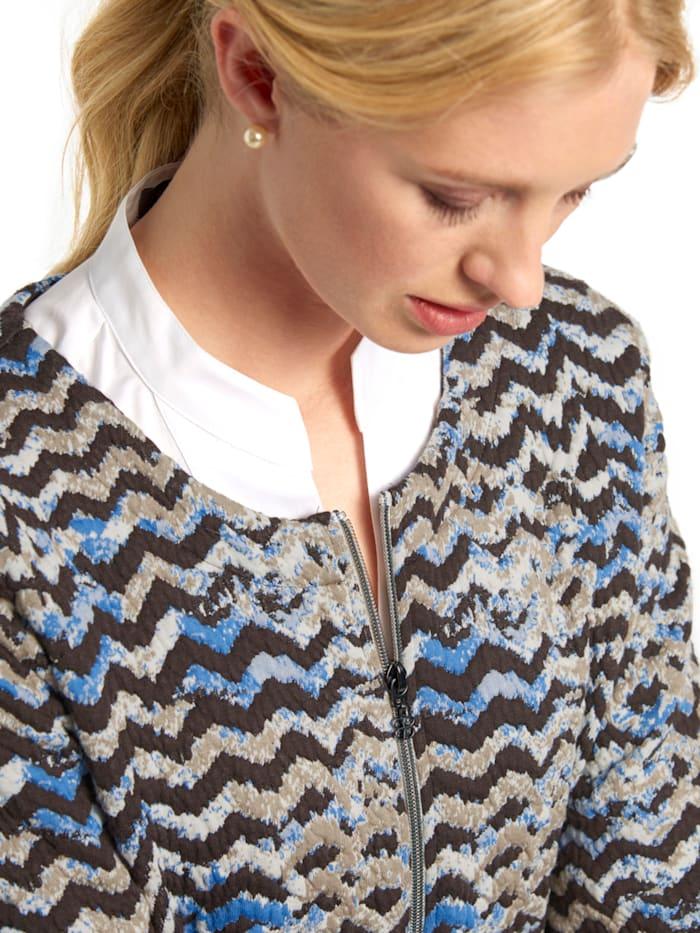 Jackenblazer aus Jersey mit Allover-Muster