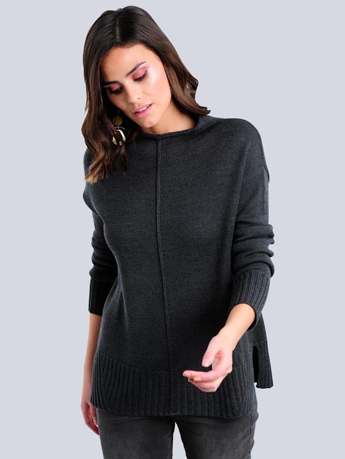 Alba Moda Pullover in reduzierter Oversized-Form, Schwarz