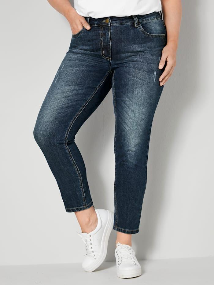 Janet & Joyce Jeans Slim Fit, Dunkelblau