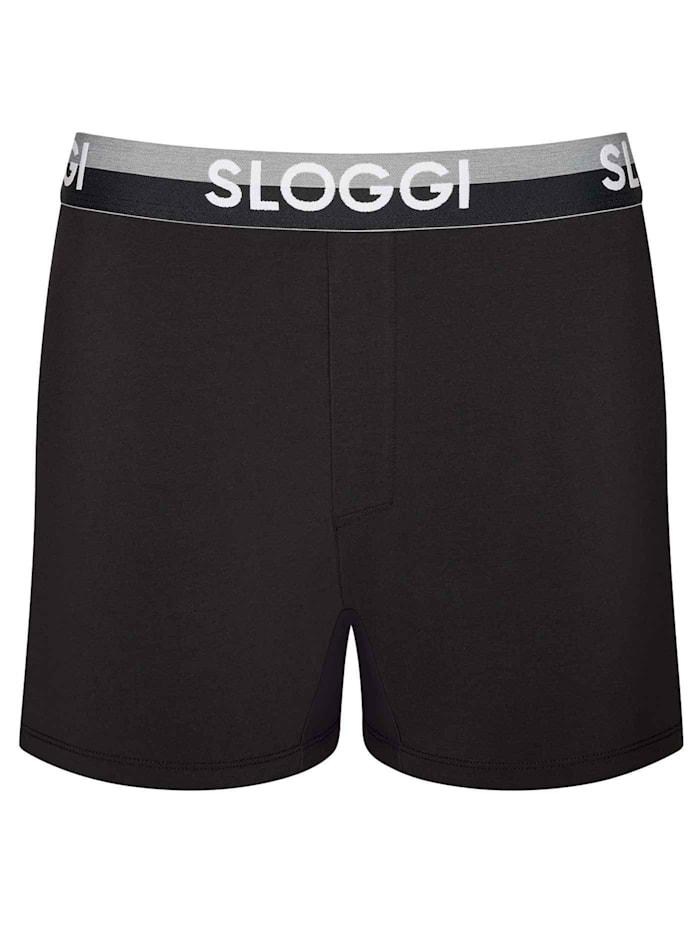 sloggi Slim Fit Boxershorts STANDARD 100 by OEKO-TEX zertifiziert, black