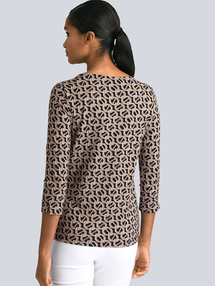 Shirt met modieuze print rondom