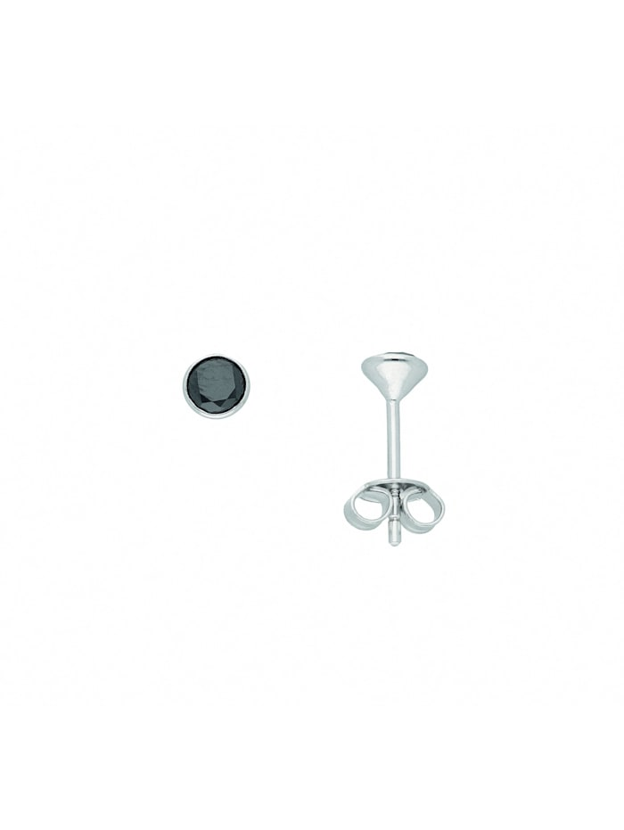 1001 Diamonds Damen Silberschmuck 925 Silber Ohrringe / Ohrstecker mit Zirkonia Ø 4,5 mm, bunt