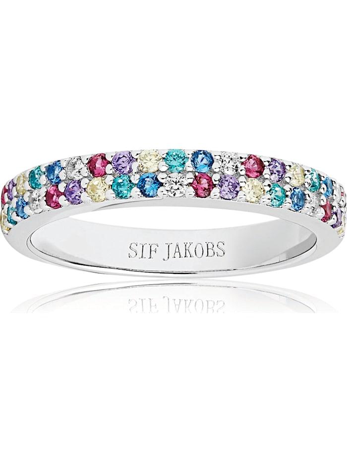 Sif Jakobs Sif Jakobs Jewellery Damen-Damenring Corte Due 925er Silber Zirkonia, silber
