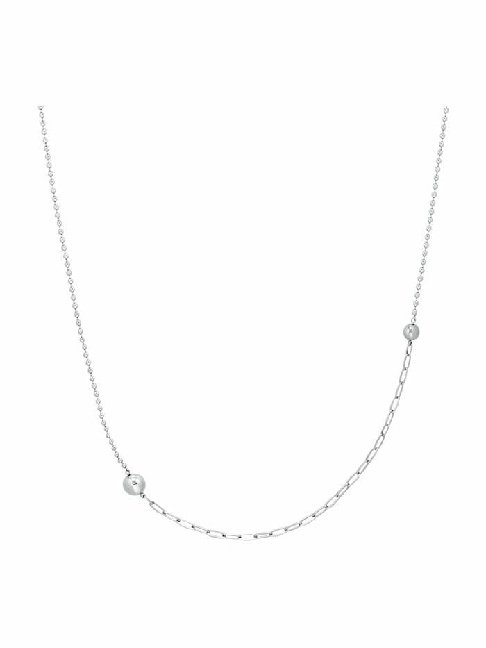 s.Oliver Halskette für Damen, Edelstahl   Kugel 72+5 cm lang, Silber