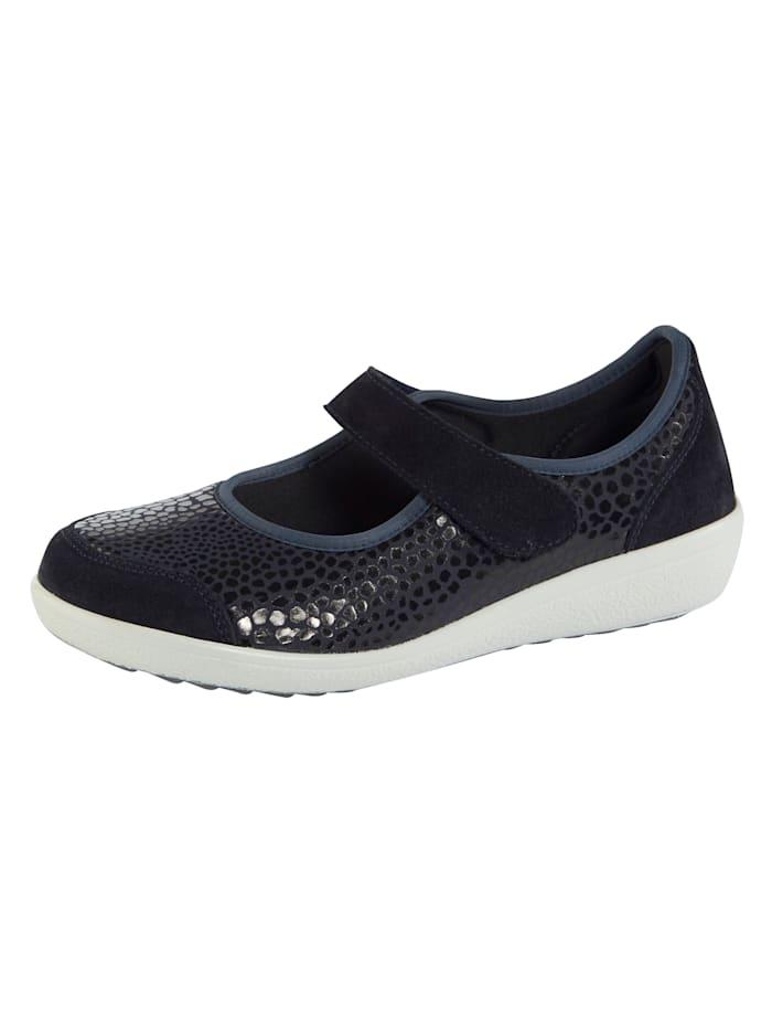 Varomed Slip-on shoes with elasticated front panels, Dark Blue