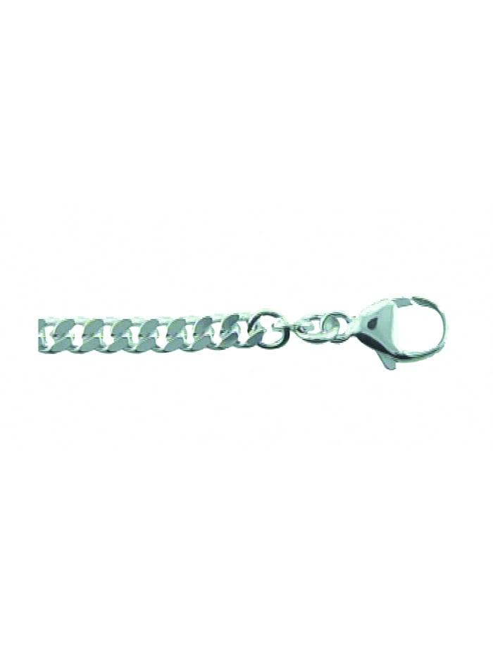 1001 Diamonds Damen Silberschmuck 925 Silber Flach Panzer Halskette 42 cm, silber