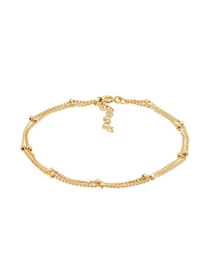 Elli Armband Layer Kugel Kettchen Basic Trend 925Er Silber, Gold