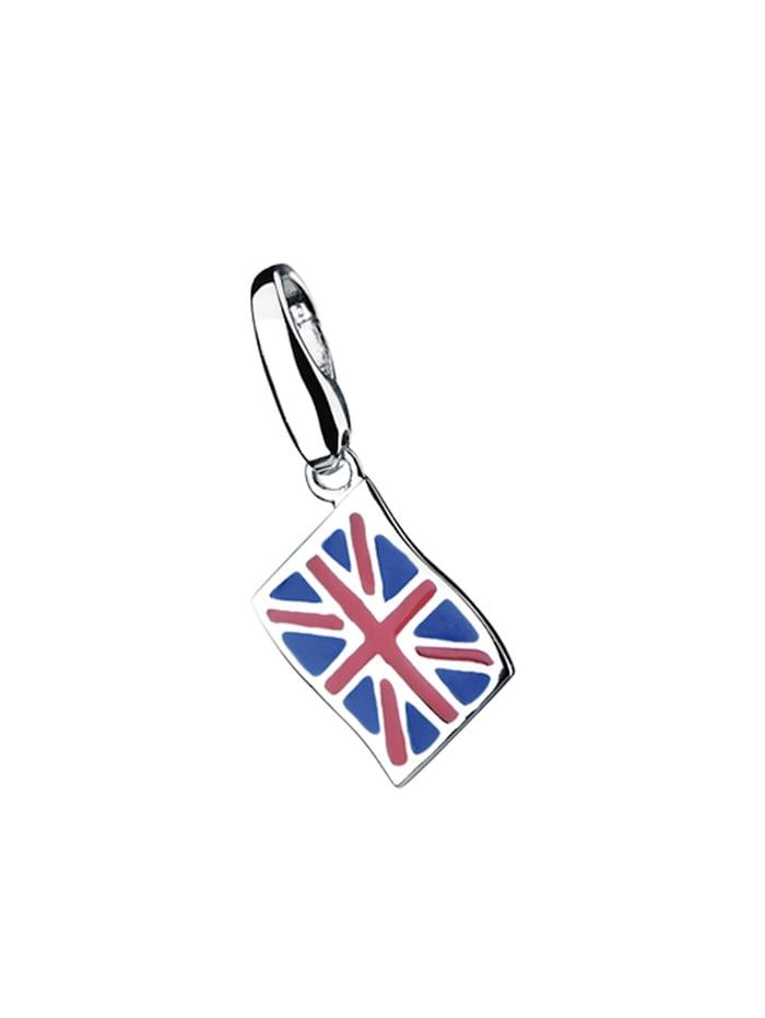 Giorgio Martello Charm England-Flagge, Silber 925, Bunt