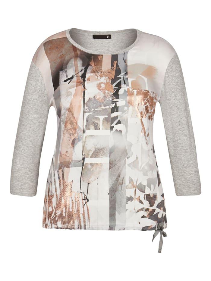 Thomas Rabe Shirt  mit Front-Print und Tunnelzug, ANTHRAZIT