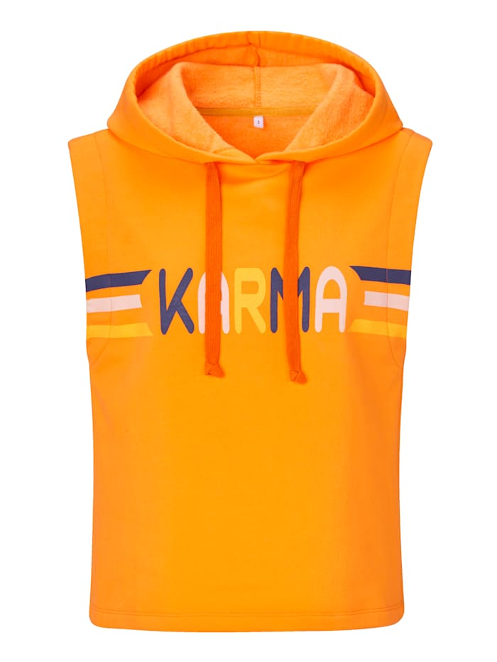 CONLEYS PURPLE Sweatshirt mit Kapuze, Orange