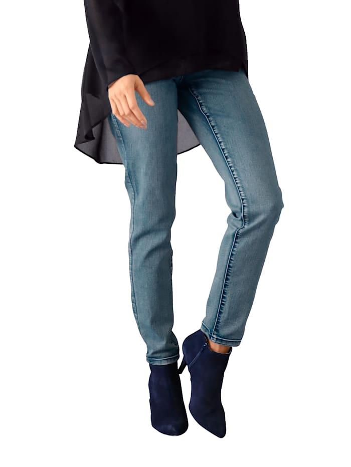 AMY VERMONT Jeans met borduursel op de zakken, Light blue